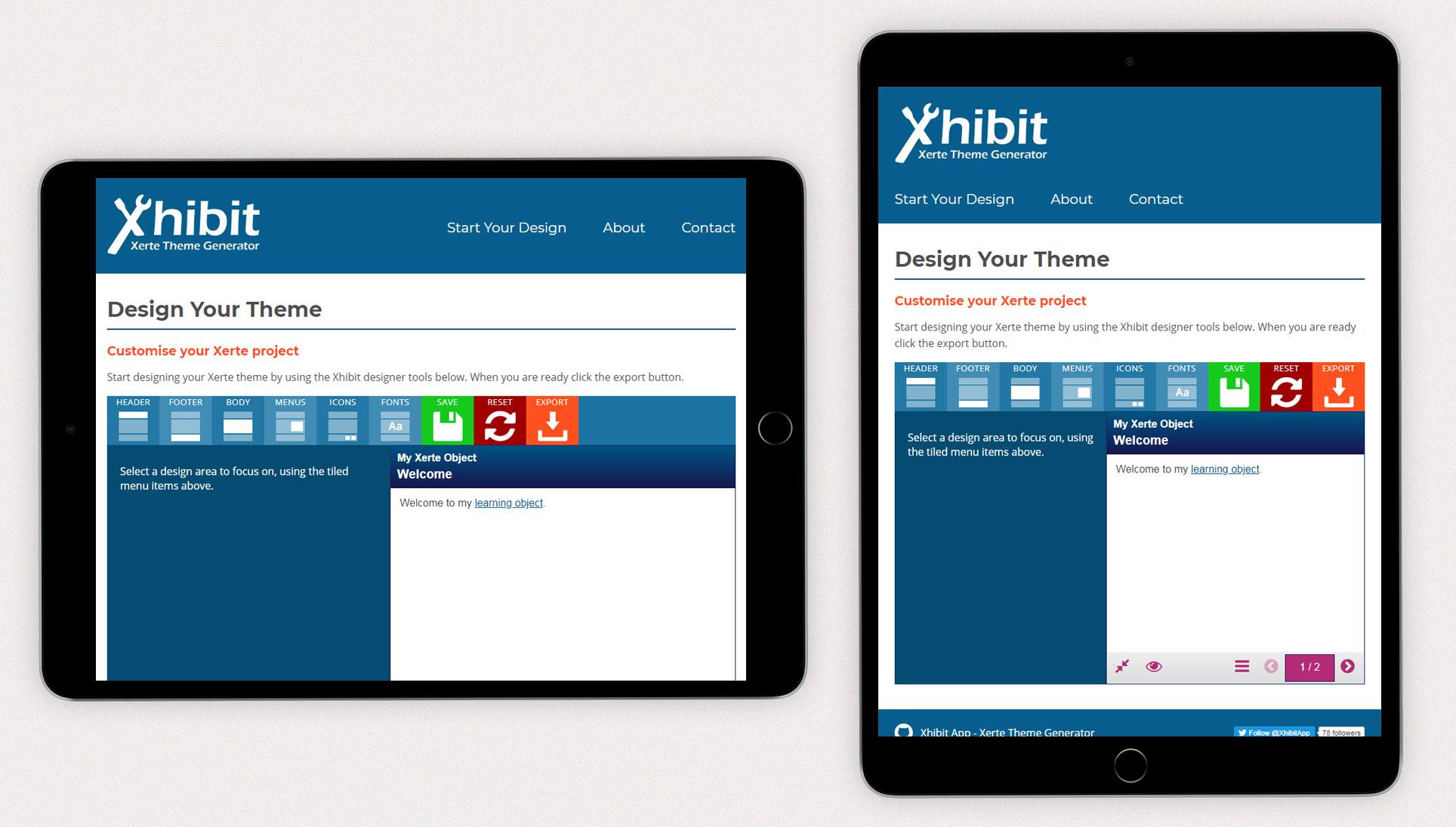 Xhibit App - iPad